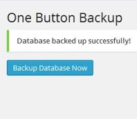 One Button Backup WordPress Plugin