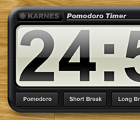 Karnes Pomodoro Timer Web Application