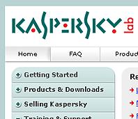Kaspersky Extranet Design
