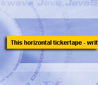 Horizontal Ticker